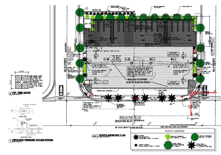 Milebella. Roof & Landscape Plan