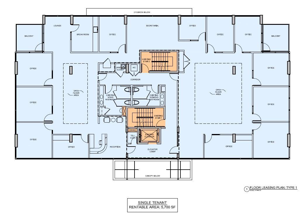 5555 Biscayne Blvd. Floor Leasing Plan