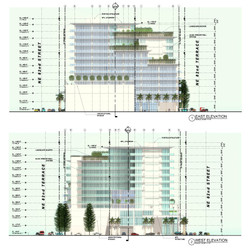 East & West elevations