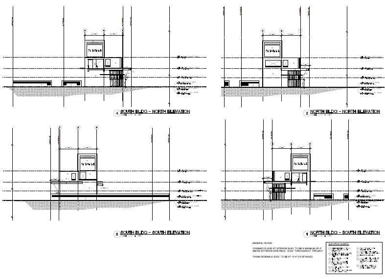 Morningside Centre. South & North Elevations