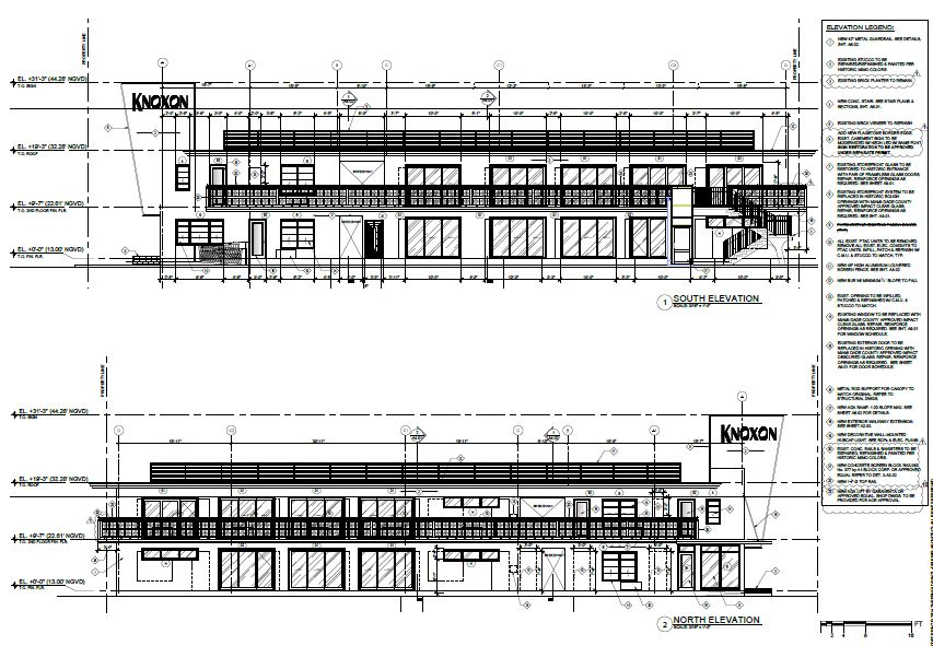 Knoxon South and North elevations