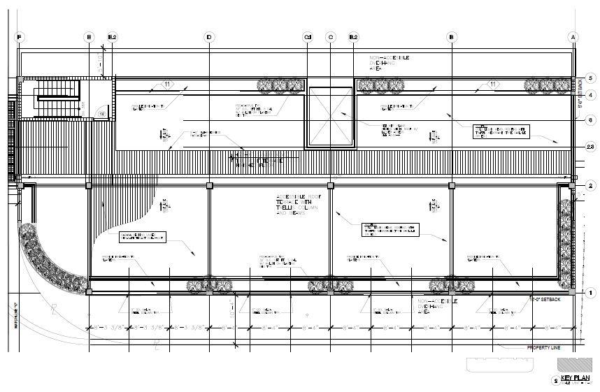 Morningside Centre. South Building Roof Level Plan