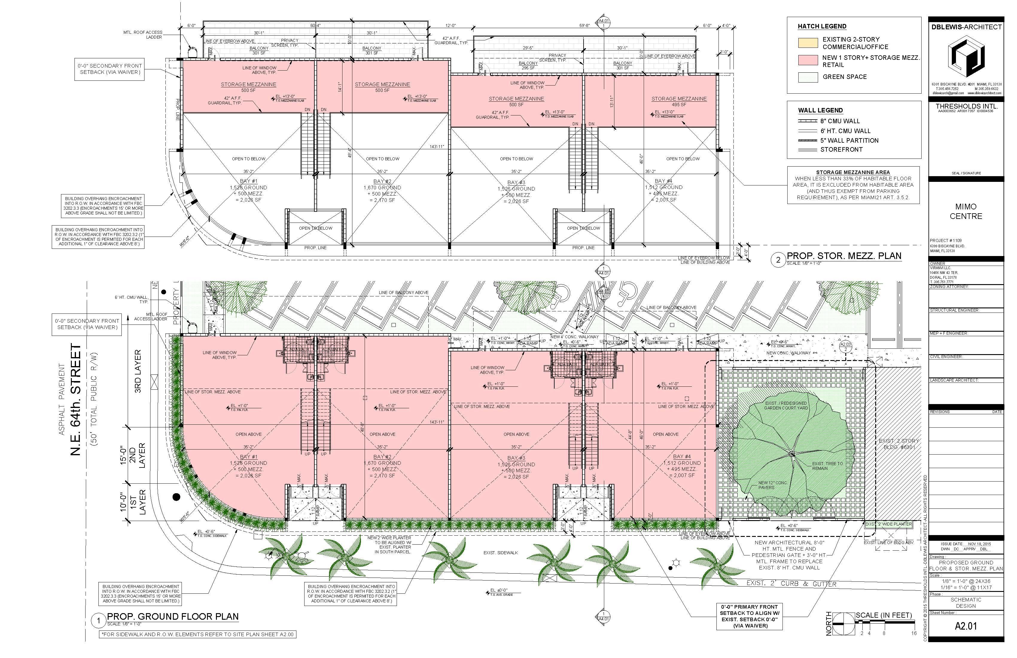 Ground floor & storage mezzanine plan
