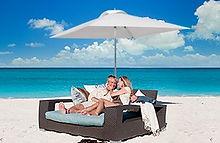 Luxury beach cabana