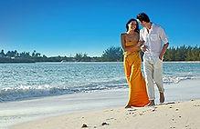 Caribbean beach stroll