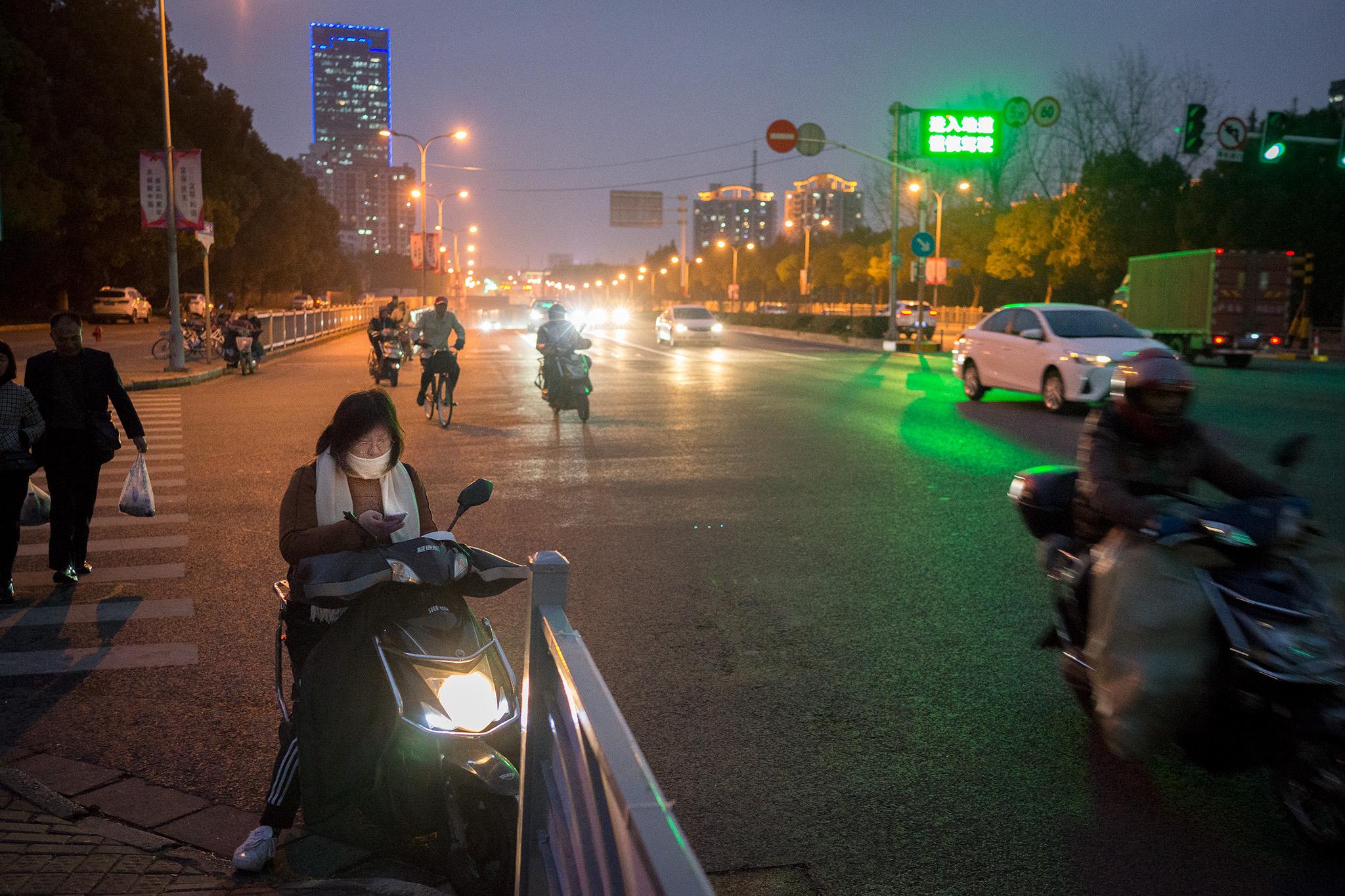 Main road in Xinzhuang, Shanghai