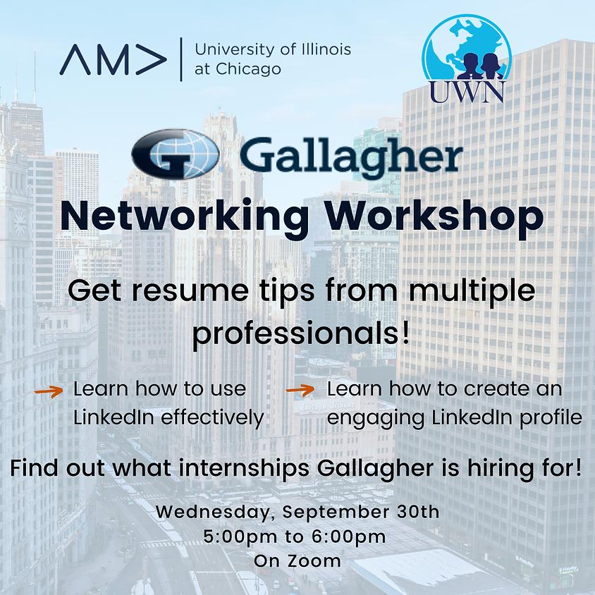 Gallagher Networking Event/Workshop AMA X UWN