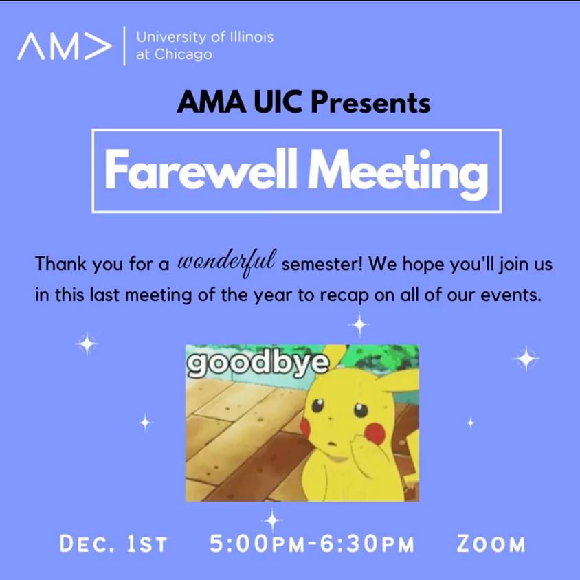 AMA UIC Farewell Meeting