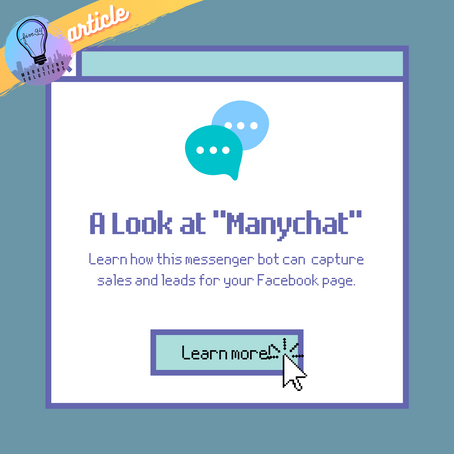 """Marketing Monday: A Look at """"Manychat"""""""
