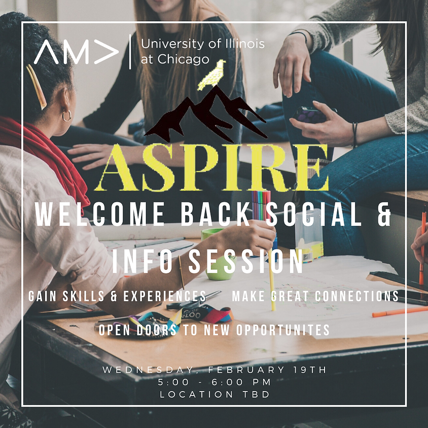 ASPIRE Welcome Back Social & Info Session