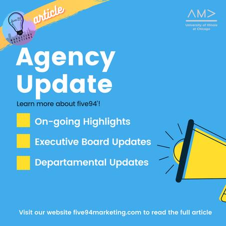 Agency Updates!