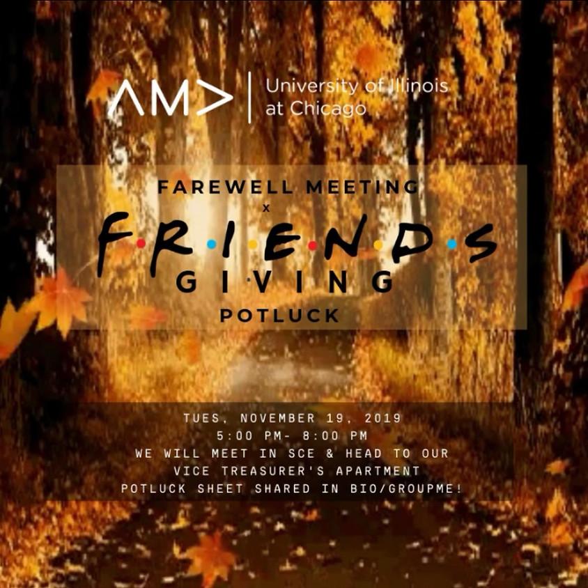 Farewell Meeting (Friends-giving potluck)