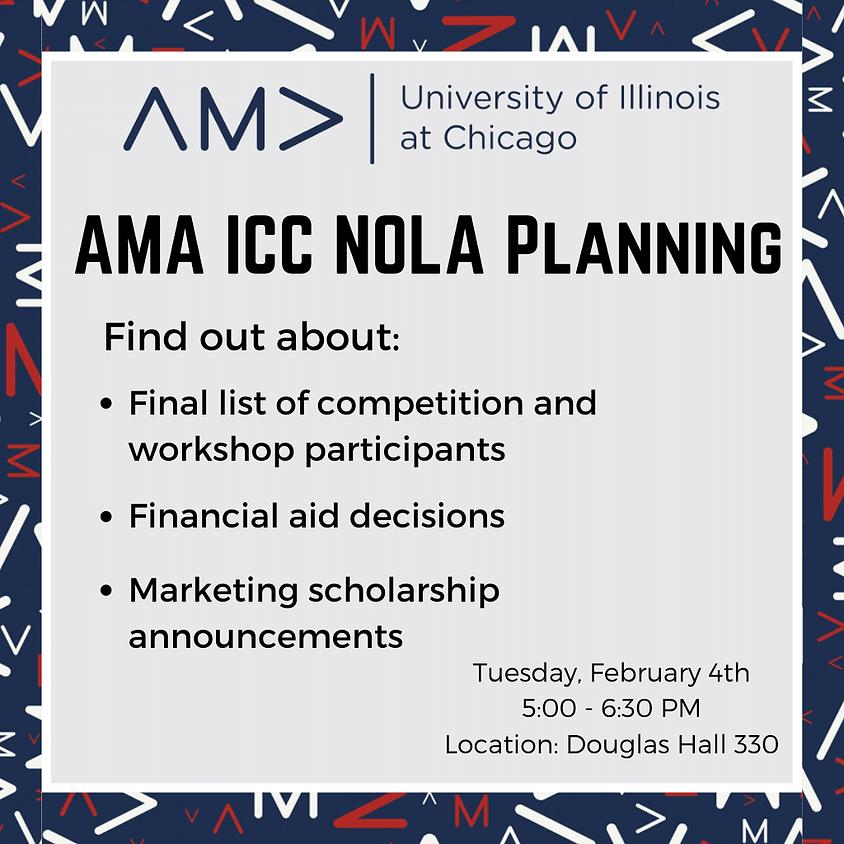 AMA ICC NOLA Planning Meeting