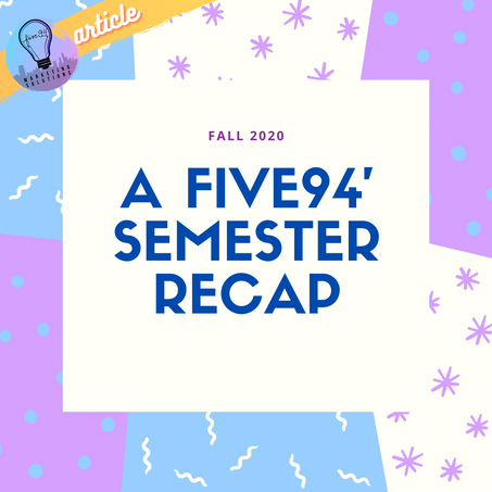 The End Of An Era - Fall Semester Recap