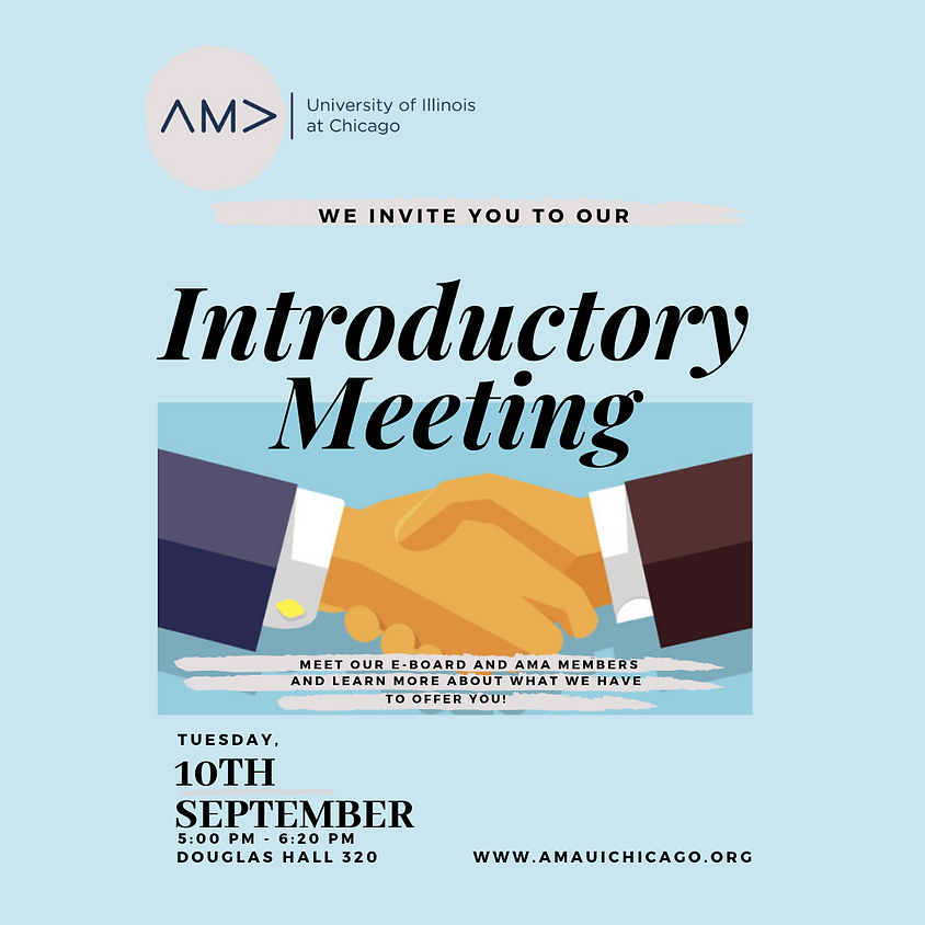 AMA UIC Introductory Meeting Fall'19