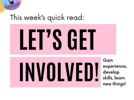 Let's Get Involved!