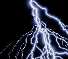 雷が落ちるイメージ
