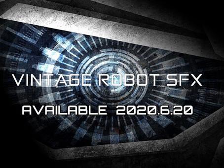【ニュース】2020年6月20日販売開始!ロボット効果音素材集『VINTAGE ROBOT SFX』