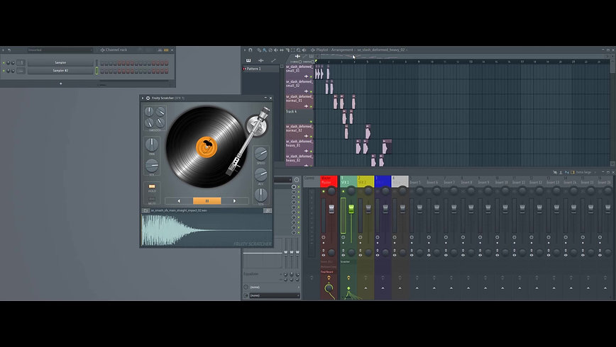 DJコントローラを使って斬撃音を作る