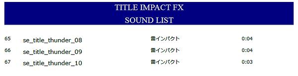 TITLE IMPACT FX 映画予告効果音素材集サウンドリスト03