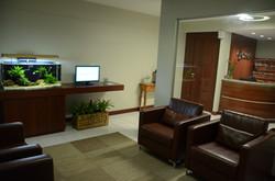 Sala de espera da clínica