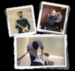Quiropraxista e consulta com idoso