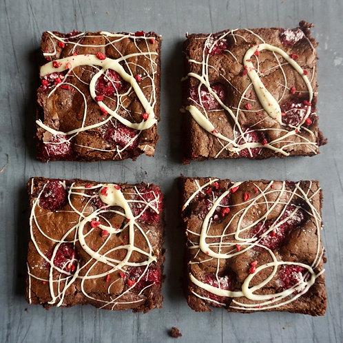 Raspberry & White Chocolate Brownies