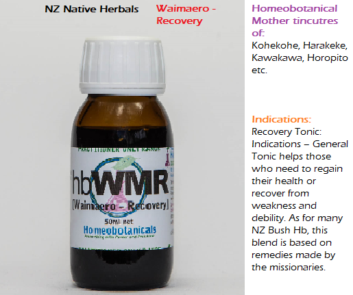 NZ Native Herbals - Waimaero - Recovery