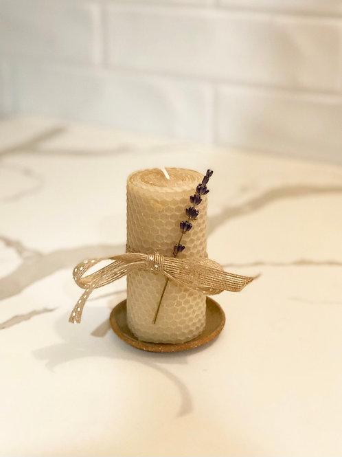 Honeycomb Beeswax 2x4 Pillar Candle