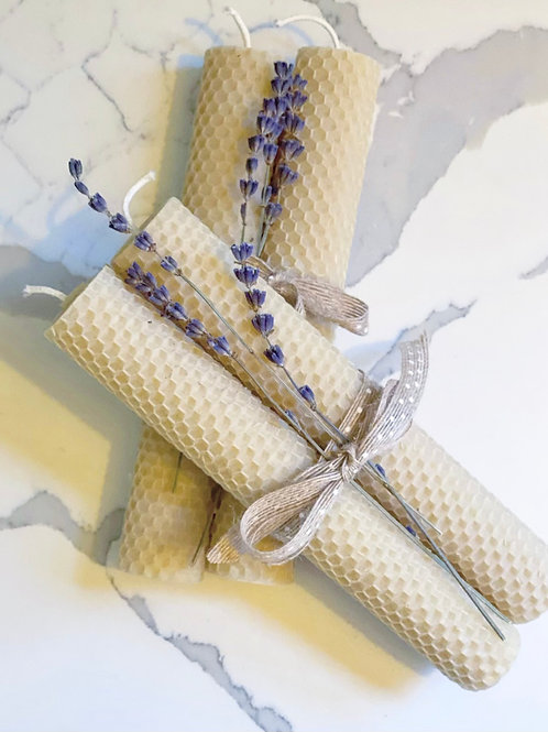 Honeycomb Beeswax Taper Candles