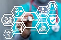 Medical concept of hormones. Hormonal th