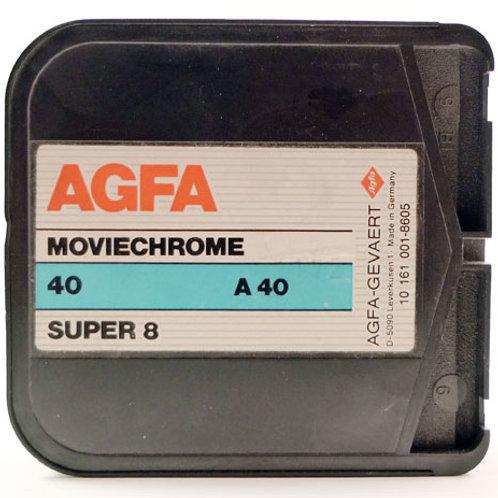 Super 8 Agfa Moviechrome 40 con sviluppo incluso (scad. 1992/93)