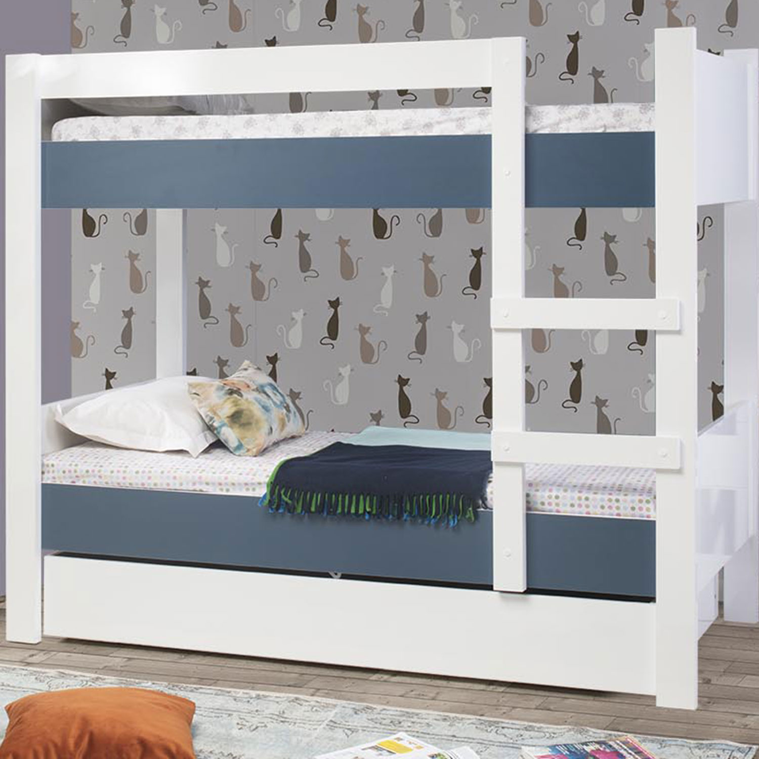ASYA BUNK BED IN DARK BLUE