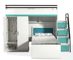 BUENO TURQUOISE WITH BED AND WARDROB