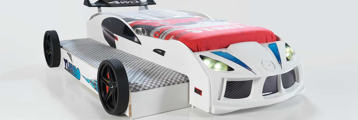 DOUBLE CAR BED WHITE