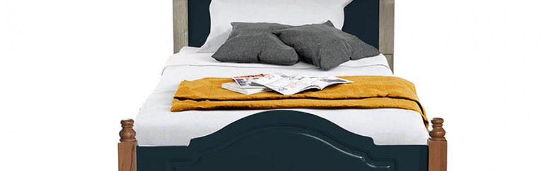 COUNTRY BED DARK BLUE