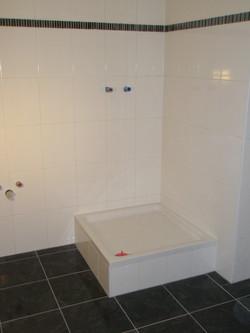 Badezimmer Duschkabine Weiß Schwarz