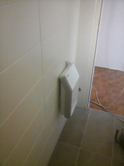 Bodengleiche Dusche Mosaik Grau Weiß