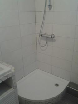 Badezimmer Duschkabine Weiß Grau