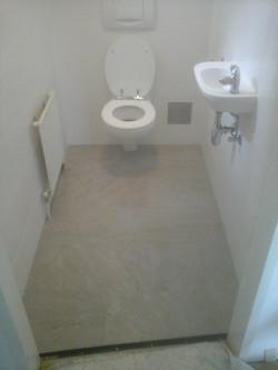 Hänge WC Grau Weiß