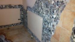 Wandverkleidung Mosaik Grau