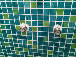 Badezimmer Mosaik Grün