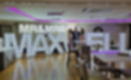 5ft MAXWELL light letters with MR&MRS topper letter lights setup in Ingliston Country Club, Scotland.  Light up letter hire Glasgow, marquee letter lights for hire across Scotland, LED light letters for hire Edinburgh.