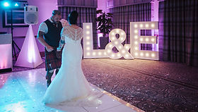 Silver Wedding Package - 5ft letter lights, 16ft x16ft led sparkling dancefloor and lockable wedding postbox. Letter light hire Scotland, dancefloor hire Glasgow, led dance floor hire Edinburgh, light up letters, 5f letter lights, event hire Glasgow & Edinburgh, wedding hire.