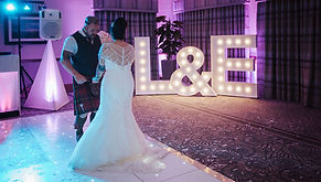 LED sparkling dancefloor setup for awedding at The Waterside Hotel, West Kilbride. White led floor hire Ayrshire, dancefloors Glasgow, led floor Edinburgh