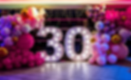 5ft 30 lights at the SkyBar Edinburgh for a 30th Birthday Party. 5ft number lights for hire Glasgow, birthday light numbers Edinburgh, Scotland. Event hire, dancefloor hire Edinburgh.