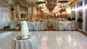 White led sparkling dancefloor setup for a wedding at Duck Bay, Loch Lomond, Scotland.  Dance floor hire Glasgow, Dancefloor hire Edinburgh, Dancefloors for hire acoss Scotland. Sparkling LED wedding danefloor.