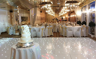 White LED sparkling dancefloor at Duck Bay, Loch Lomond.  Wedding Dance Floors Loch Lomond. Sparkling White LED Dancefloor for hire across Central Scotland for Weddings and Events.