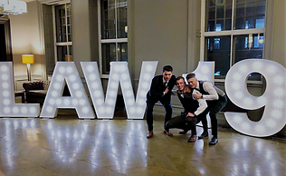 5ft LAW 19 light letters setup for a Law Graduation Ball at The Grand Central Hotel, Glasgow. Letter lights, light up letters, light letters, 5ft PROM lights, 5ft GRAD light letters