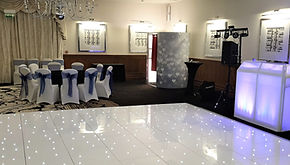 16x16 Floor Colessio, Stirling for a wedding.  White LED Dance Floor hire, dancefloor hire Scotland, dancefloor to hire Glasgow, dancefloors for hire Edinburgh, led floor Stirling